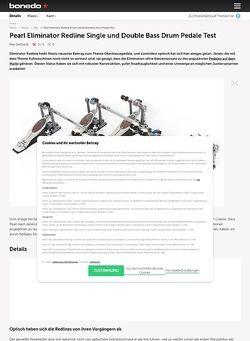 Bonedo.de Pearl Eliminator Redline Single und Double Bass Drum Pedale