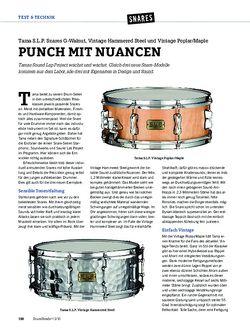 DrumHeads Tama S.L.P. Snares G-Walnut, Vintage Hammered Steel und Vintage Poplar/Maple