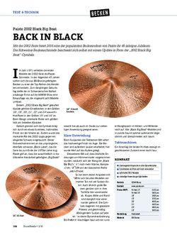 DrumHeads Paiste 2002 Black Big Beat