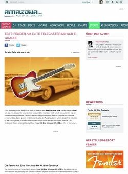 Amazona.de Test: Fender AM Elite Telecaster MN ACB, E- Gitarre