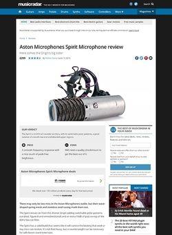 MusicRadar.com Aston Microphones Spirit Microphone