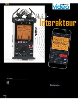 Professional Audio Tascam DR-44WL - Der Mobil-Interakteur