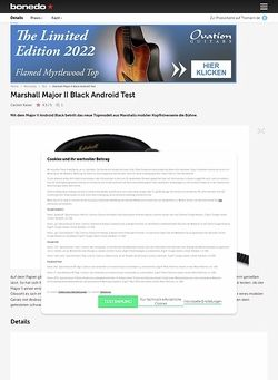 Bonedo.de Marshall Major II Black Android