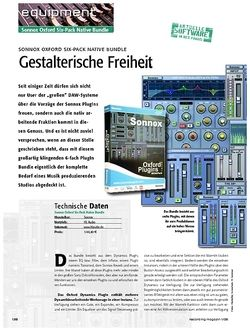 Recording Magazin Sonnox Oxford Six-Pack Native Bundle: Gestalterische Freiheit