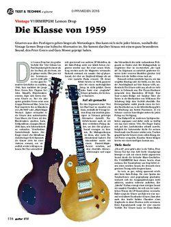 guitar Vintage V100MRPGM Lemon Drop