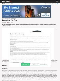 Bonedo.de Zoom H4n Pro