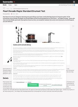 Bonedo.de Pearl Decade Maple Standard