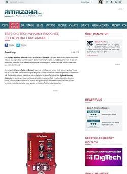Amazona.de Test: Digitech Whammy Ricochet, Effektpedal für Gitarre