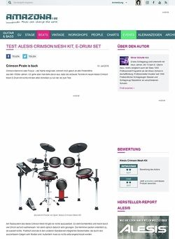 Amazona.de Test: Alesis Crimson Mesh Kit, E-Drum Set
