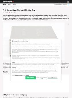 Bonedo.de Phil Jones Bass BigHead Mobile