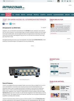 Amazona.de Test: DV Mark Micro 50, Gitarrenverstärker
