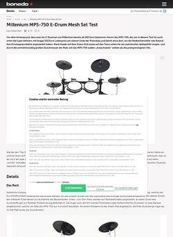 Bonedo.de Millenium MPS-750 E-Drum Mesh Set