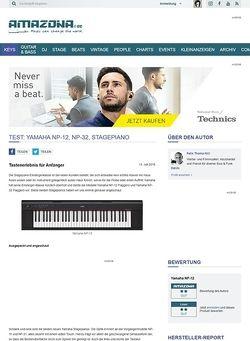 Amazona.de Test: Yamaha NP-12, NP-32, Stagepiano