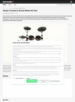Bonedo.de Alesis Crimson E-Drum Mesh Kit