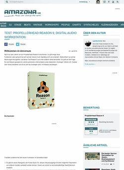 Amazona.de Test: Propellerhead Reason 9, Digital Audio Workstation