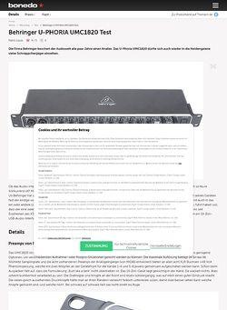 Bonedo.de Behringer U-PHORIA UMC1820