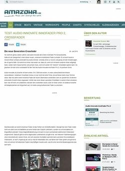 Amazona.de Test: Audio Innovate innoFader Pro 2, Crossfader