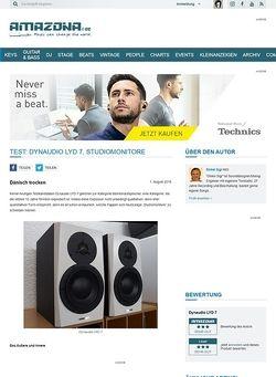 Amazona.de Test: Dynaudio LYD 7, Studiomonitore