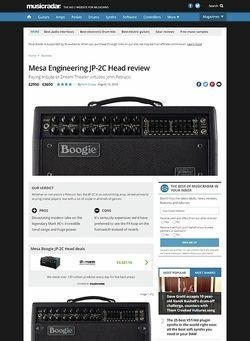 MusicRadar.com Mesa Engineering JP-2C Head