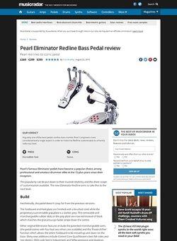 MusicRadar.com Pearl Eliminator Redline Bass Pedal