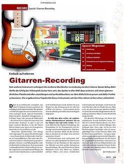 KEYS Special: Gitarren-Recording