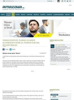 Amazona.de Vergleichstest: 2-Kanal DJ-Mixer: Allen&Heath Xone:23, Pioneer DJM-350, Reloop RMX-22i