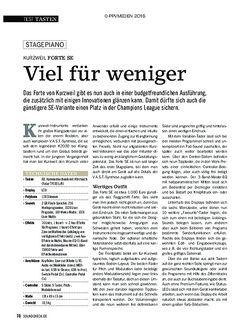 SOUNDCHECK Kurzweil Forte SE