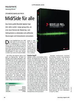 Recording Magazin Steinberg Wavelab Pro 9