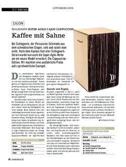 SOUNDCHECK Schlagwerk Super Agile Cajon Cappuccino