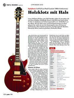 guitar Epiphone Ltd Ed Les Paul Custom 100th Anniversary