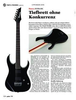 guitar Ibanez RGIB6-BK