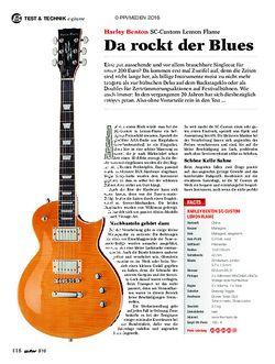 guitar Harley Benton SC-Custom Lemon Flame