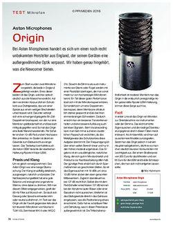 KEYS Aston Microphones Origin