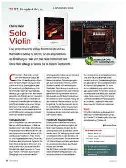 KEYS Chris Hein Solo Violin
