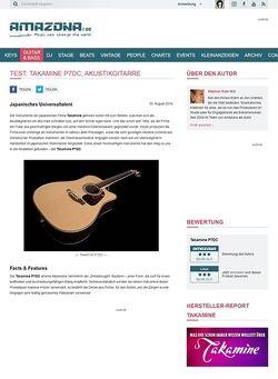 Amazona.de Test: Takamine P7DC, Akustikgitarre