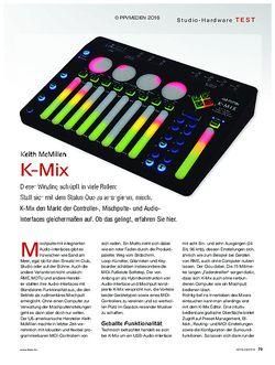 KEYS Keith McMillen K-Mix