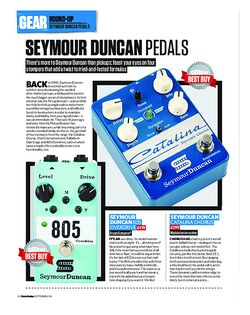 Total Guitar Seymour Duncan 805 Overdrive, Catalina Chorus, Palladium Gain Stage and Vise Grip Compressor