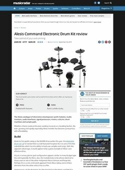 MusicRadar.com Alesis Command Electronic Drum Kit