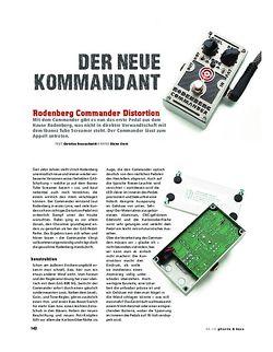 Gitarre & Bass Rodenberg Commander, Distortion-Pedal