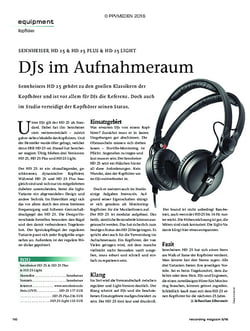Recording Magazin SENNHEISER HD 25 & HD 25 PLUS & HD 25 LIGHT