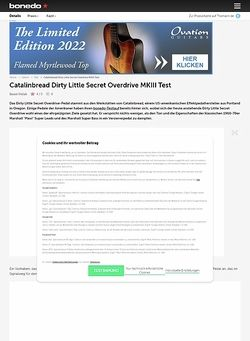 Bonedo.de Catalinbread Dirty Little Secret Overdrive MKIII