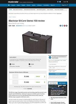 MusicRadar.com Blackstar ID:Core Stereo 100