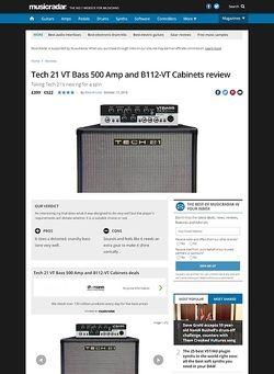 MusicRadar.com Tech 21 VT Bass 500 Amp and B112-VT Cabinets
