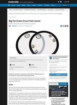 MusicRadar.com Big Fat Snare Drum Pad