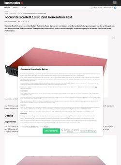 Bonedo.de Focusrite Scarlett 18i20 2nd Generation