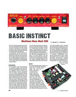 Gitarre & Bass Markbass Nano Mark 300, Bass-Amp