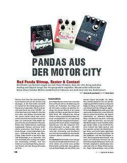 Gitarre & Bass Red Panda Bitmap, Raster & Context, FX-Pedale