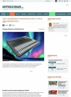Amazona.de Test: Soundcraft Signature 22 MTK, Mischpult