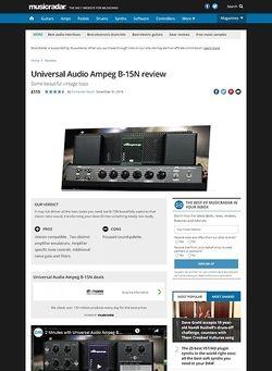 MusicRadar.com Universal Audio Ampeg B-15N