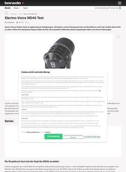 Bonedo.de Electro-Voice ND46